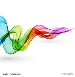 Vector Abstract smoky waves background. Template brochure design
